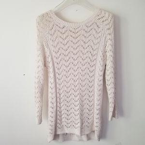 Club Monaco sweater crochet cotton sz XS